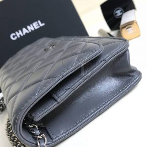 Replica Chanel WOC Wallet On Chain Grey