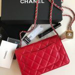 Replica Chanel WOC Wallet On Chain Red