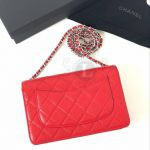 Replica Chanel WOC Wallet On Chain Caviar Red