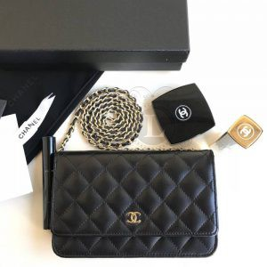 Replica Chanel WOC Wallet On Chain Black