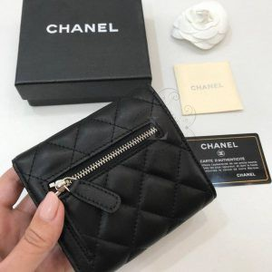 Replica Chanel Classic Small Flap Wallet Silber