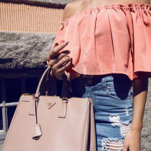Replica Prada Saffiano Lux Tote Bag Biege