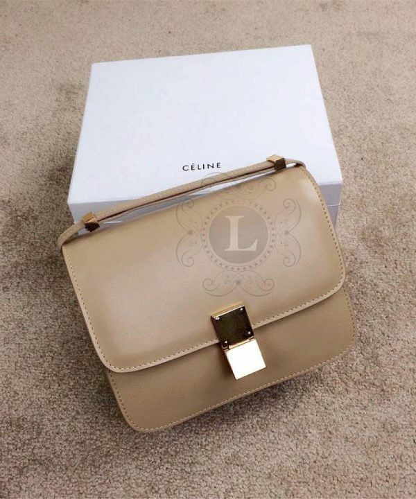 Replica Celine Classic Box Shoulder Bag Coffee