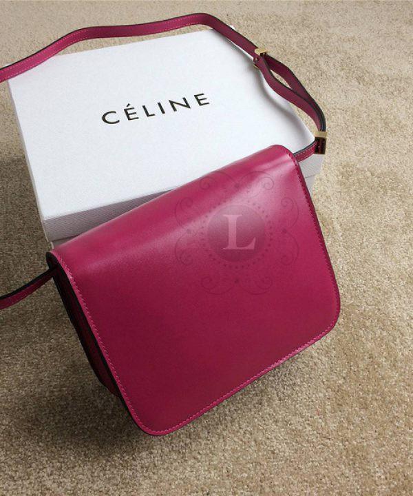 Replica Celine Classic Box Shoulder Bag Fuchsia