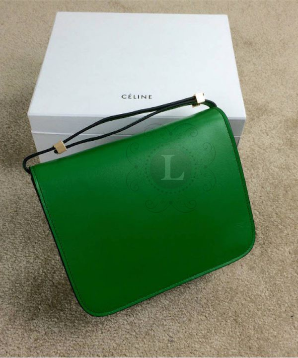 Replica Celine Classic Box Shoulder Bag Green