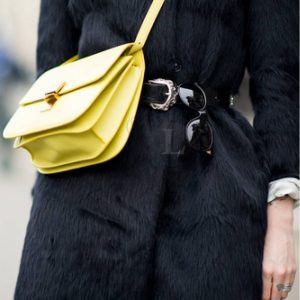 Replica Celine Classic Box Shoulder Bag Yellow