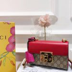 Replica Gucci Padlock Shoulder Bag Red