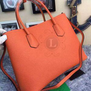 Replica Prada Cuir Double Bag Orange