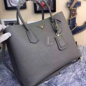 Replica Prada Cuir Double Bag Grey ()