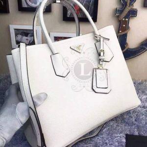 Replica Prada Cuir Double Bag White ()