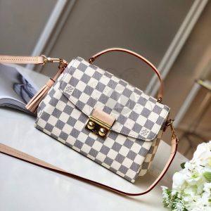 Replica Louis Vuitton Croisette Damier Azur Canvas Bag