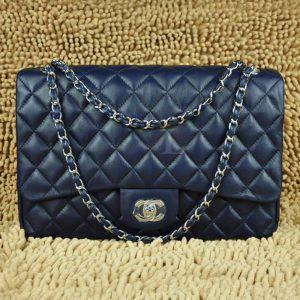 Replica 33 Maxi Flap Bag Blue