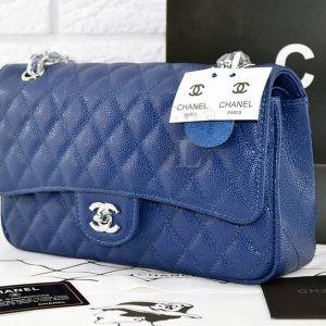 Replica Chanel Medium Caviar Blue Bag