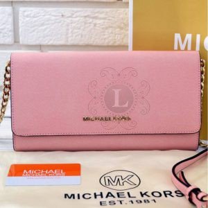 Replica Michael Kors Jet Set Travel Smartphone Crossbody Rose
