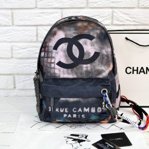 Replica Graffiti Printed Canvas Backpack