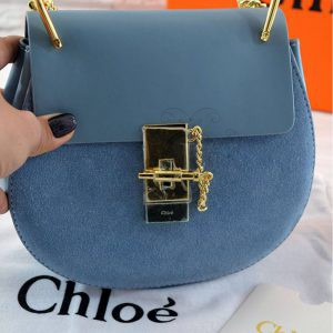 Replica Chloe Drew Mini Blue