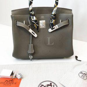 Replica Hermes Birkin Grey 30 cm