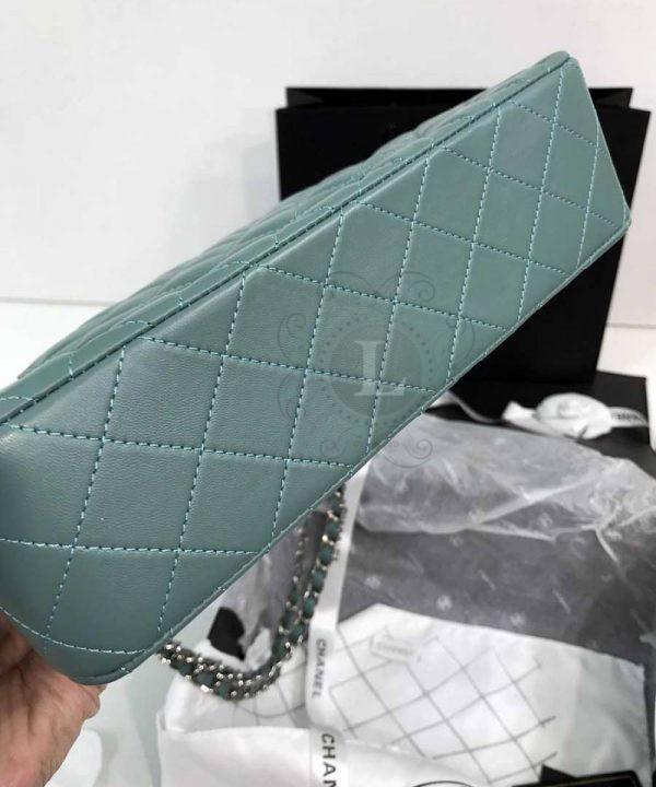 Replica Medium Classic Double Flap Bag Tiffany Blue