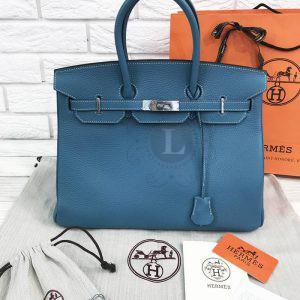 Replica Hermes Birkin Dark Blue 35 cm