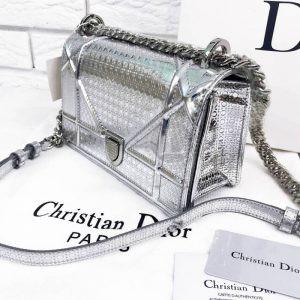 Replica Dior Diorama Metallic Silver Medium