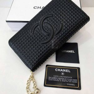 Replica Chanel Patent Leather Zip Wallet
