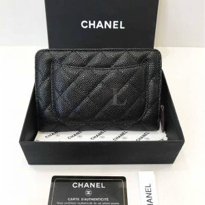 Replica Chanel Caviar L-Zip Pocket Zip Wallet