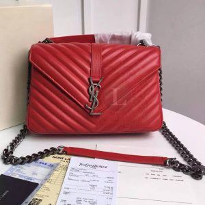 Replica YSL College Monogram Medium Bag Red