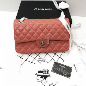 Replica Medium Classic Double Flap Bag Coral