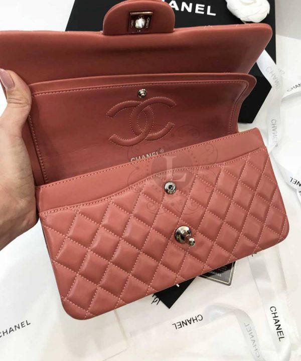 Replica Medium Classic Double Flap Bag Coral