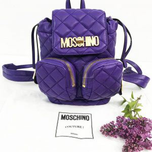 Replica Moschino Quilted Mini Backpack
