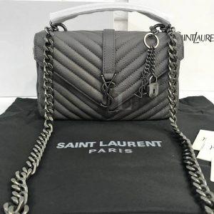 Replica Saint Laurent Medium College Monogram Grey