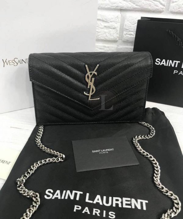 Replica Saint Laurent Monogram Envelope Chain Wallet