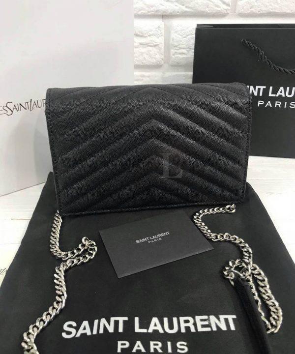 Replica YSL Saint Laurent Monogram Envelope Chain Wallet