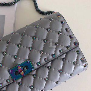 Replica Valentino Rockstud Spike Cross Body Grey