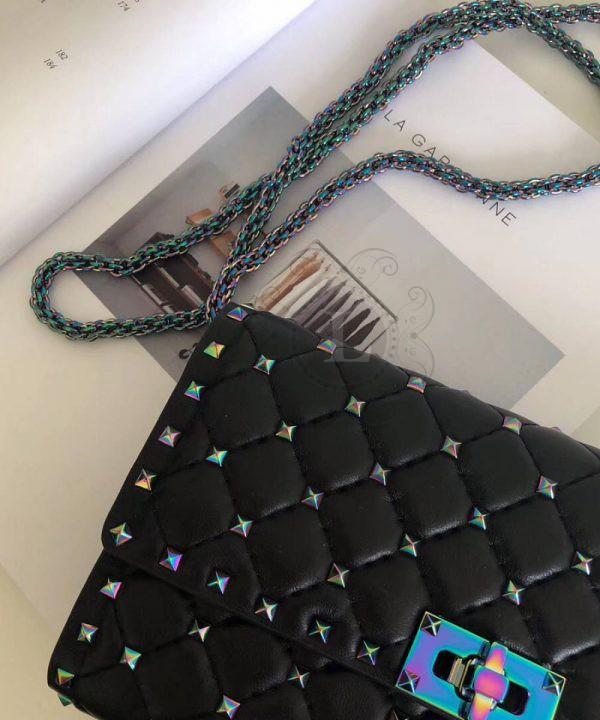 Replica Valentino Rockstud Spike Cross Body Black