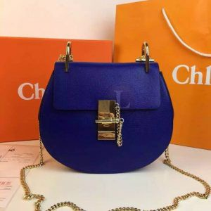 Replica Chloe Drew Mini Royal Blue