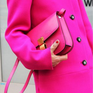 Replica Celine Classic Box Shoulder Bag Fuchsia