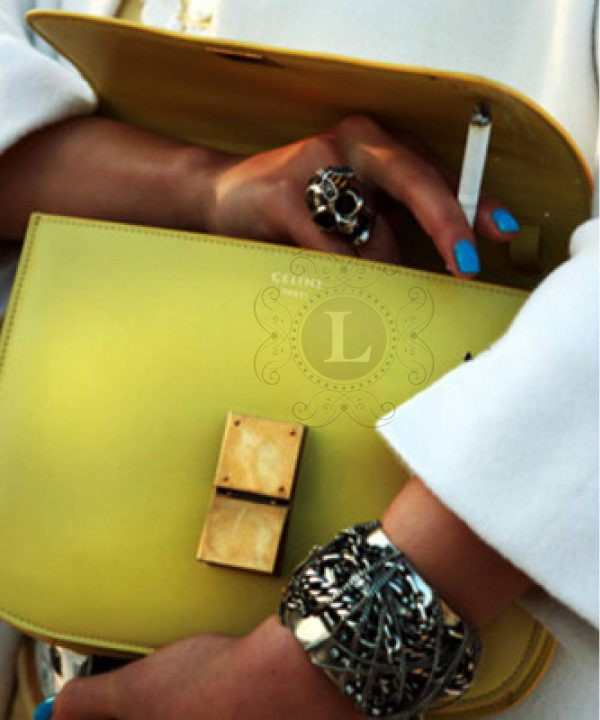 Replica Celine Classic Box Shoulder Bag Yellow