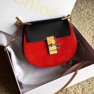 Replica Chloe Drew Mini Red/Black