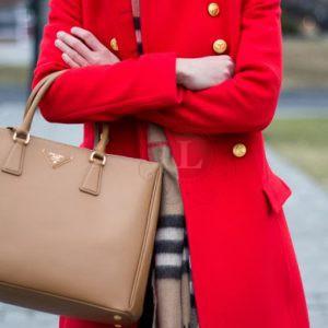 Replica Prada Saffiano Lux Tote Bag Camel